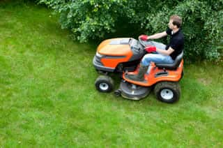 Riding mowers -- what if you crash?
