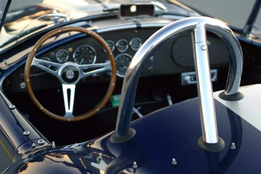 Driving a sports car