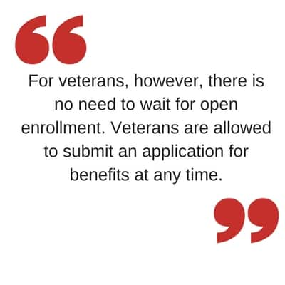Vet pull quote health care enrollment