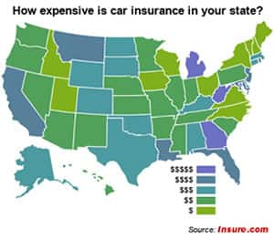 Average Car Insurance Rates by State