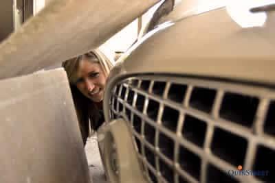 crash into garage door