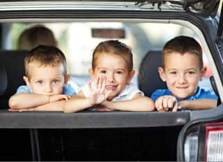 drive safely with children
