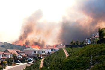 Wildfire threatening homes